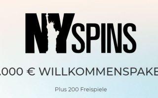 welcome bonus nyspins