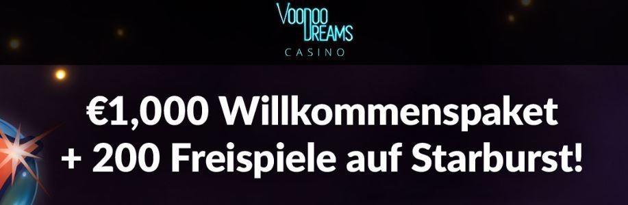 welcome bonus voodoo dreams
