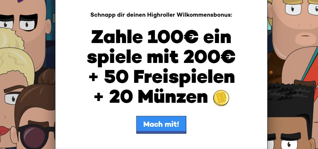 willkensbonus high roller