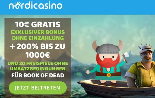 welcome bonus nordicasino