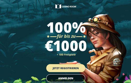 casinoroom €1000 bonus + 100 free spins