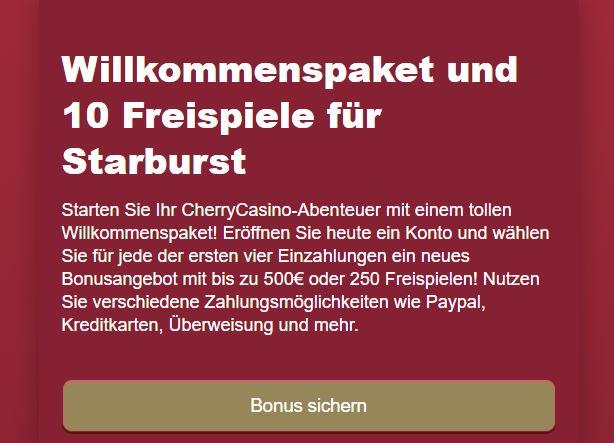 cherry 10 Free Spins
