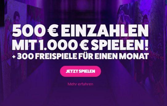 frank fred 500 euro bonus und 300 free spins