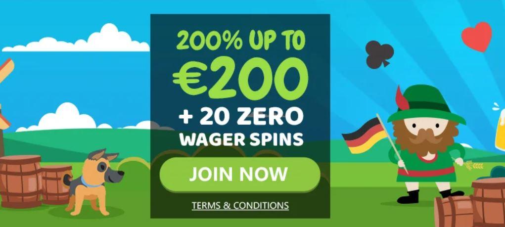 nordicasino 200% bonus und 20 spins