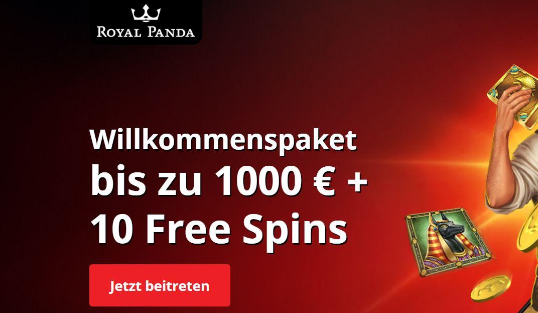 royal panda 1000 euro bonus