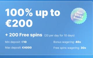 casino friday 100% bonus und 200 spins