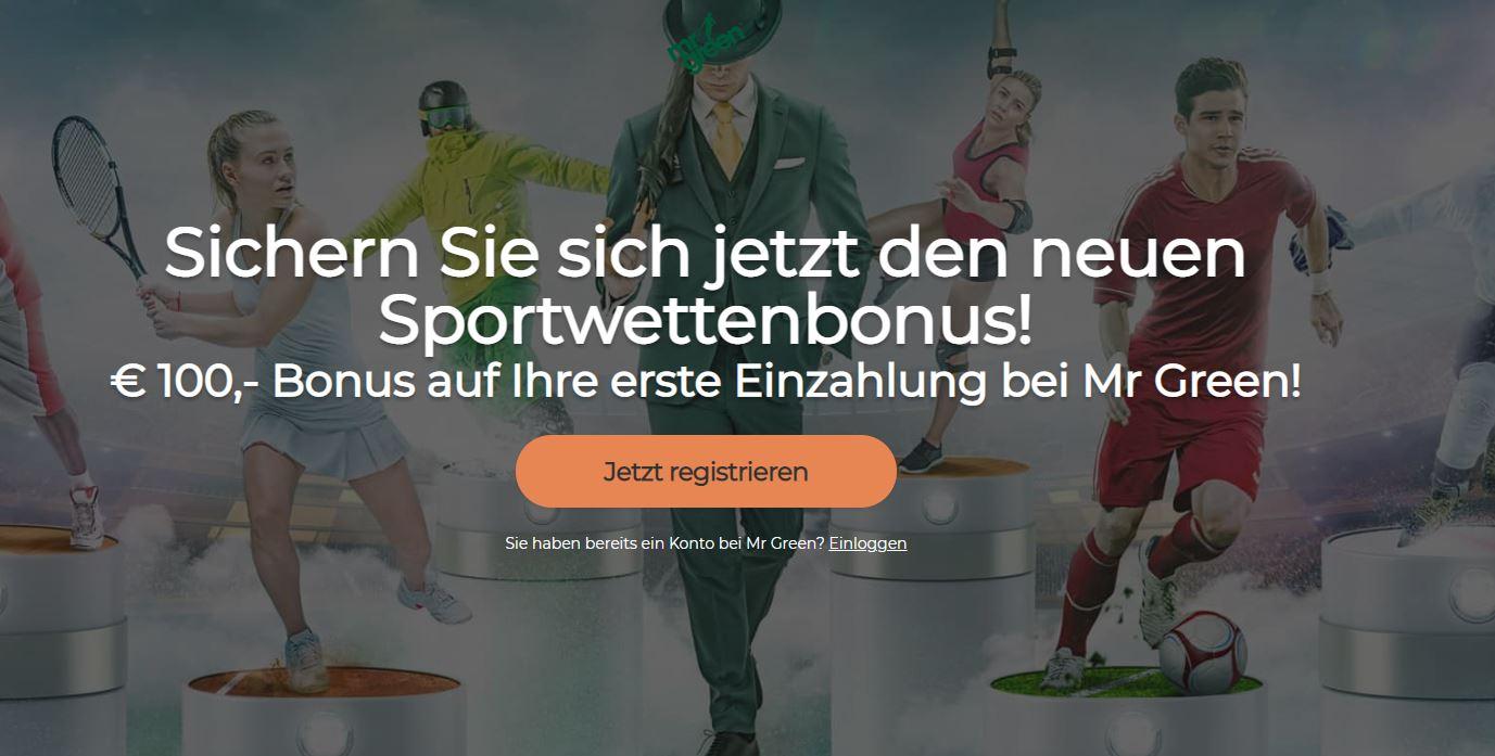 mr green 100 euro bonus